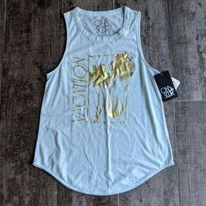 CHASER Vacation Soft Muscle Vintage Graphic Tank
